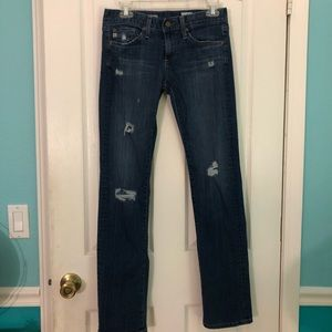GUC jeans distressed the relaxed straight tomboy!